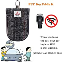 Fob Guard Keyless Entry Remote RFID HISU Faraday Cage Shield Car Key Fob Signal Blocking Pouch 20 x 10 cm Faraday Bag RFID Key Fob Antitheft Lock Devices Protector WiFi//GSM//LTE//NFC//RF Blocker