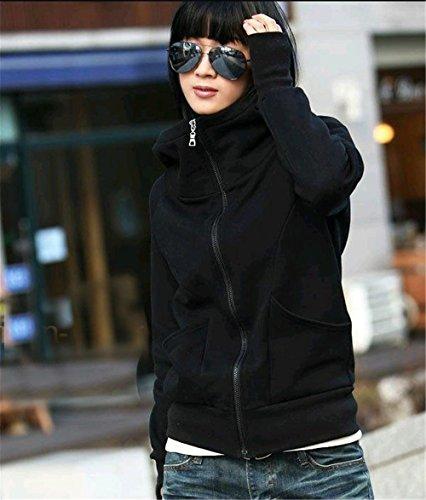 Sport Nero Clothing Casual Felpe Manica Lunga Tops A Con Parka Autunno Hoodie Cappotti College Cappuccio Donna Coco Giacche FRXfAqwFg