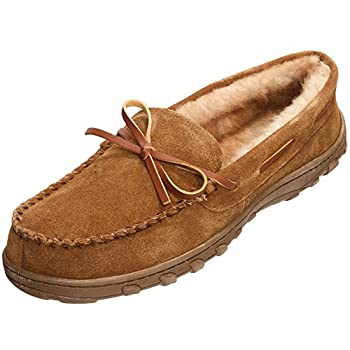 Rockport Men's Memory Foam Plush Suede Slip On Indooroutdoor Moccasin Slipper Shoe 3