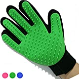 Mr. Peanut's Han-D Glove Pet Grooming Brush & Deshedding Tool, For Long and Short Hair Grooming of Dogs, Horses, Bunnies & Some Agreeable Cats, Pet Massage & Bathing Brush & Comb (Green)
