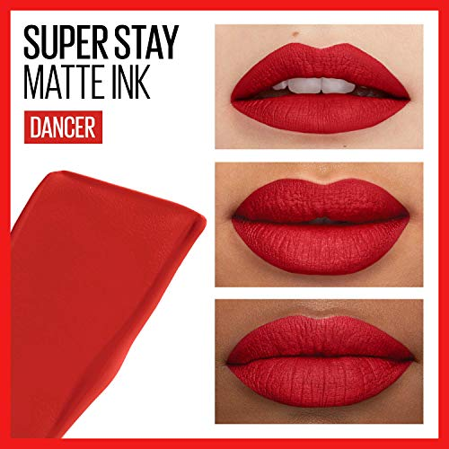 Maybelline SuperStay Matte Ink City Edition Liquid Lipstick Makeup, Pigmented Matte,, Long-Lasting Wear, Smooth Matte Finish, Dancer, 0.17 Fl Oz, Pack of 1