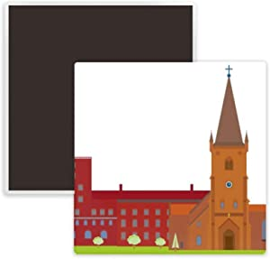 Danish Koling National Landmark Building Square Ceramics Fridge Magnet Keepsake Memento