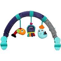 Toyvian Baby Travel Play Arch Stroller Activity Bar for Stroller Pram Crib Plush Toy (Sea Animal)