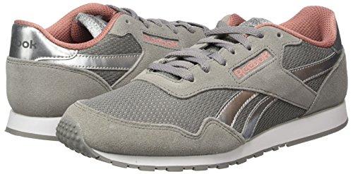 Reebok Damen Royal Ultra Sl Sneaker Grau (Ch Solid Grey/Sandy Rose/Sil Met/White)