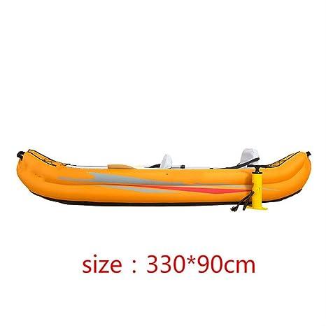 RUXGU Lona hinchable de dos personas para barco de pesca con fondo ...