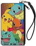 Pokemon Four Starters Canvas Zip Wallet 5 x 8in