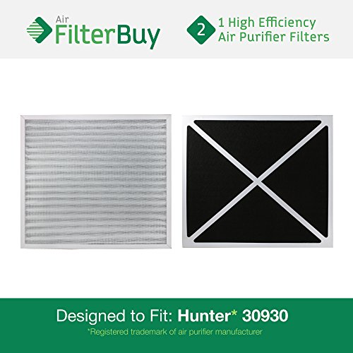 Hunter Hepatech Replacement Filter (2 - 30930 Hunter HEPATech Air Purifier Replacement Filters. Fits Hunter Models: 30200, 30201, 30205, 30250, 30253, 30255, 30256, 30350, 30374, 30375, 30377, 30380, 30390, 37255 & 37375. By)
