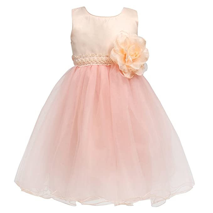 028f9ff25 Merry Day Flower Baby Girl Petals Dress Toddler Tulle Wedding Pageant Party Dresses  Champagne 2-