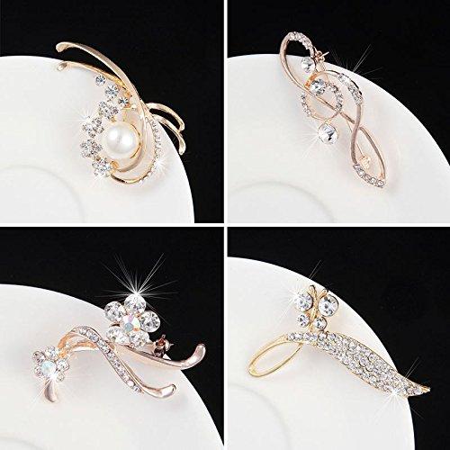 Korean version of sweet fresh elegance faux pearl brooch female wild flower corsage brooch do with jewelry (Wildflower Brooch)