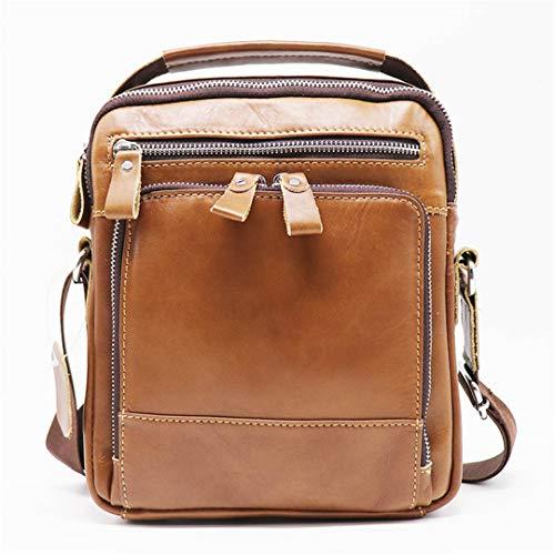 Leather Shoulder Bags Men's Messenger Bag Male Handbag Smale Ipad Men Tote 8' Crossbody Bag Vintage Casual Style Brown 22cm X7cm X25cm