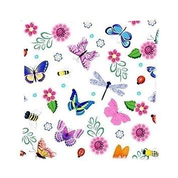 Amazon.com: Decoración del hogar colorido hermoso mariposa ...