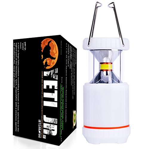 Internova Junior Monster Camping Lantern - Ultra Bright Unique Glow Mode with ARC 360 Degree LED - Backpacking - Hiking - Home - (Himalayan White) (Himalayan White)