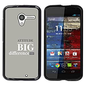 CASEMAX Slim Hard Case Cover Armor Shell FOR Motorola Moto X 1 1st GEN I - ATTITUDE - BIG DIFFERENCE