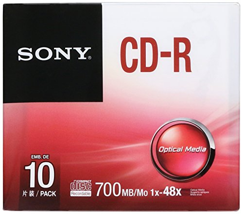 Sony 10CDQ80SS 80-min 700 MB 10 pack 48X CD-R in Slim Jewel Cases Lifestyles (Discontinued by Manufacturer)