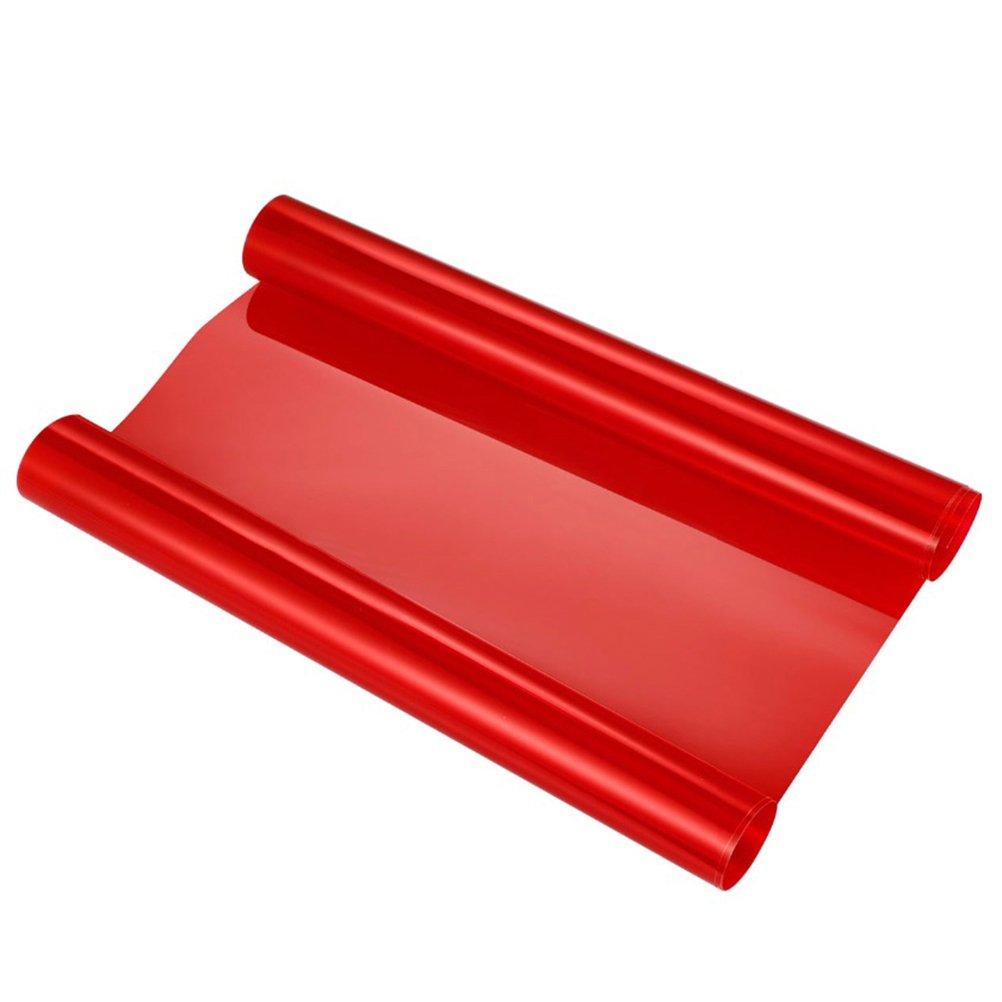 VORCOOL Pellicola adesiva rossa per fari fanali di auto e moto per decorazione e protezione di 30x120 cm 433471323X7OHWII1522