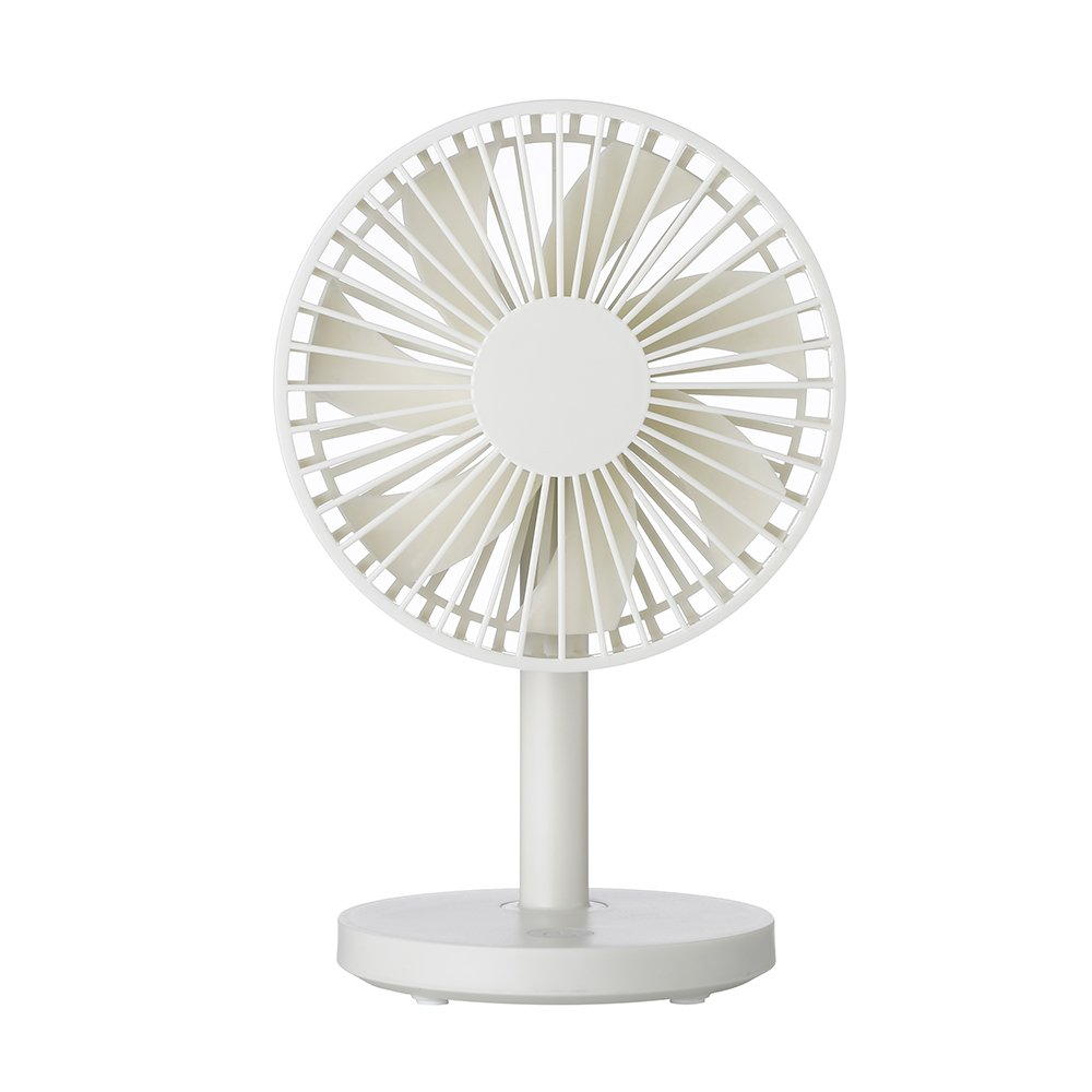 TOMNEW Mini USB Desk Fan Small Personal Table Adjustable Portable Quiet Operation Fan Air Cooling for Office Home Kids Room (White)