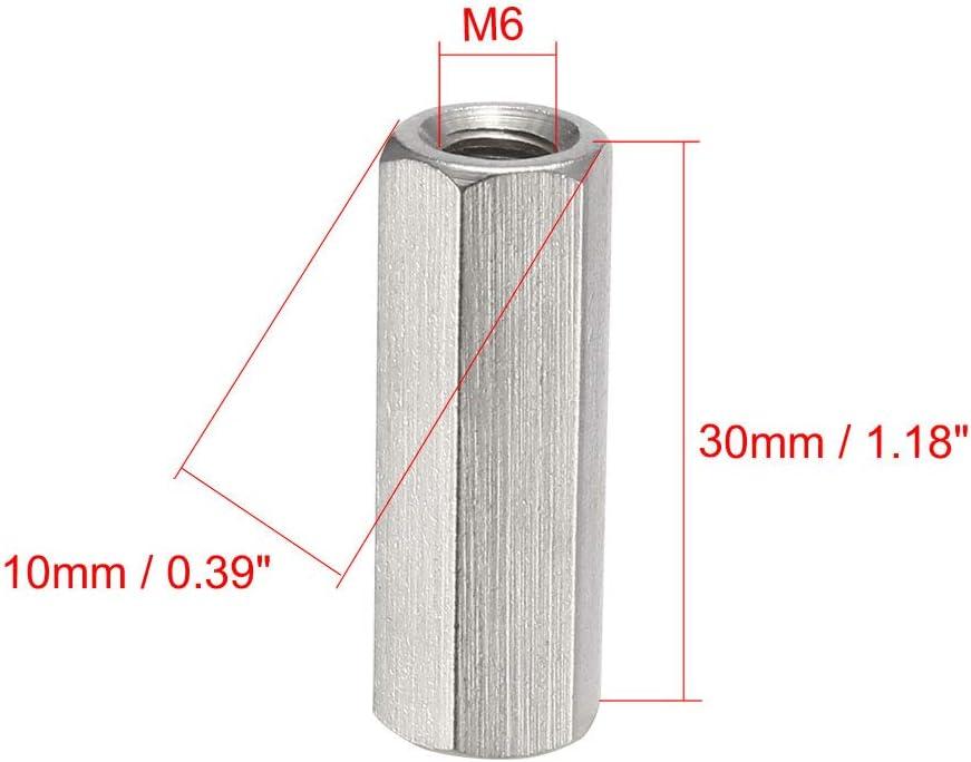 pezzi Sourcing Map 304/acciaio INOX metrico accoppiamento dado esagonale