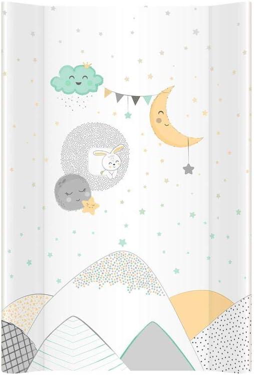 50 x 70 cm blanco Buenas noches Talla:50 x 70 cm Cambiador de beb/é reci/én nacido con bordes elevados