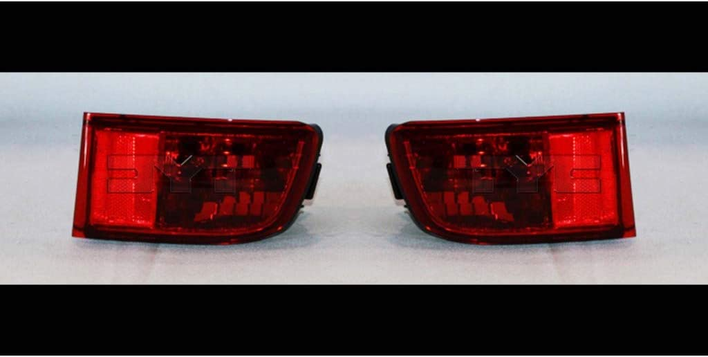 Fits 2003-2005 Toyota 4RUNNER Pair Driver and Passenger Side Rear Bumper Reflector DOT Certified TO1184101 TO1185101 Replaces 81590-60141 81580-60111 ;
