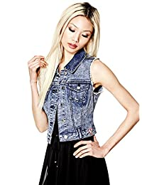 GUESS Factory Women's Amery Denim Vest