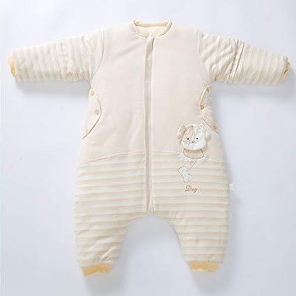 HGYBZ Saco De Dormir para Bebé Piernas Forro Cálido Invierno Manga Larga Saco De Dormir De