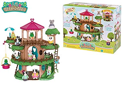 Woodzeez - Family Treehouse - Perfect for Housing Lil Characters, Comes with a