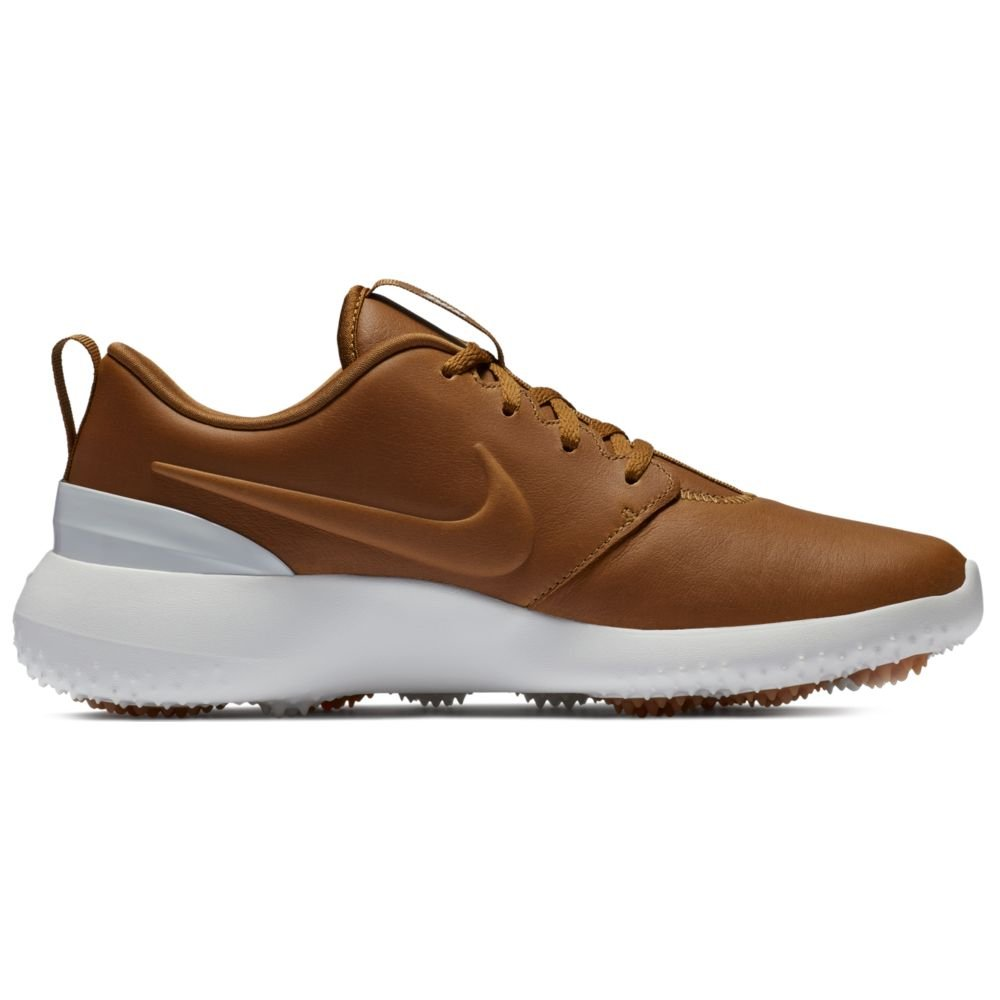 Nike Roshe G PRM Spikeless Golf Shoes 2018 Ale Brown/Summit White Medium 7