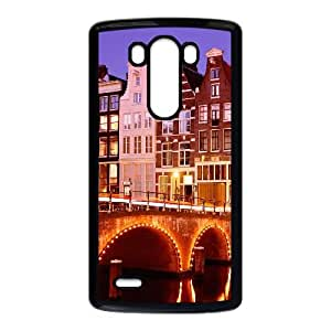 LG G3 Cell Phone Case Covers Black amsterdam City Phone cover SE8605223