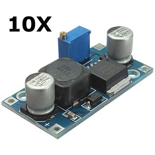 10Pcs Adjustable XL6009 Step Up Voltage Power Supply Module Converter Regulator - Arduino Compatible SCM & DIY Kits Module Board - 10 x XL6009 step up voltage module by Unknown