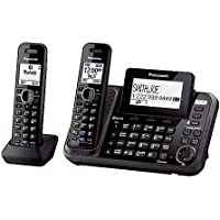 Panasonic DECT 6.0 Expandable Digital 2 Line Bluetooth Cordless Phones with Talking Caller ID and Digital Answering System - 2 Handset Pack