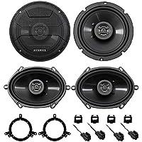 2001-2005 Chrysler PT Cruiser Hifonics Front + Rear Speaker Replacement Kit