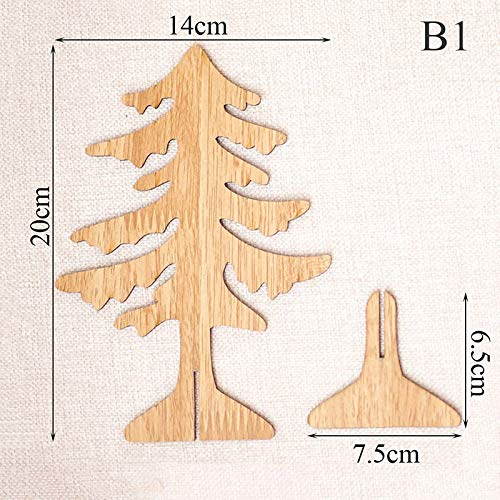 Amazon Com Tree Toppers Diy Craft 3d Wooden Christmas Tree Table
