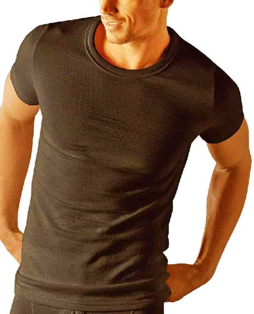 a maniche corte Socks Uwear termica maglietta intima invernale White X-Large maglietta della salute da uomo