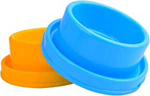Cdipesp Dog Bowl Set Pet Food and Water Feeder Non-Skid Outdoor Cat Bowls Feeding Dish for Puppy Small Medium Dogs