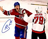 Andrew Shaw Autographed Signed Montreal Canadians Cheering On The Crowd During A Fight 8x10 Photo Photograph