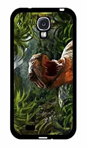 Dinosaur in Jungle - Phone Case Back Cover (Galaxy S4 - TPU Rubber Silicone)