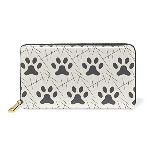 Pattern Womens Handbags Dog Around Clutch Paws Cat Purses TIZORAX Footprints 3 Wallet And Zip Organizer wZqOR4yI
