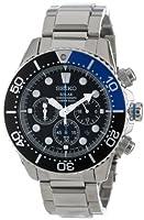 Seiko Men's SSC017 Solar Dive Chronograph Classic Solar Dive Chronograph Watch from Seiko