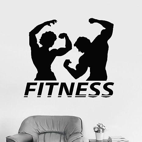 wukongsun Fitness Pareja Silueta Vinilo Apliques de Pared ...