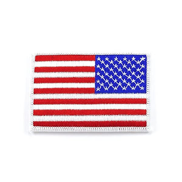 C4T-Industries-American-Flag-Tactical-USA-Patches-with-Velcro-Backing-35-x-225-Standard-and-Reverse-Facing-with-High-Quality-Stitching-Colors-RedWhiteBlue-BlackSilver-BlackRed-BlackOlive-Green-TanBrow