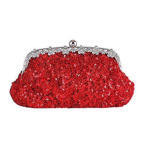 Flada - Cartera de mano para mujer Rojo Red Medium Red