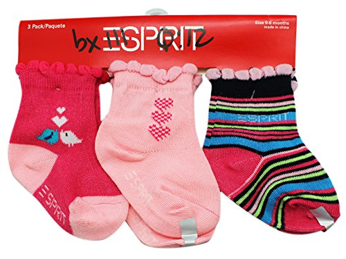 3-pack-pink-and-black-espirit-infant-socks-for-girls-size-0-6-months