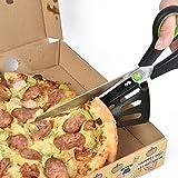 新しいステンレス鋼ピザはさみ多機能スライス2-in1カッターサーバキッチンピザ切削工具