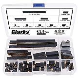 Glarks 80Pcs 2.54mm Straight Double Row Female Pin Header Socket Connector Strip Assortment Kit for Arduino Prototype Shield(Double Row)