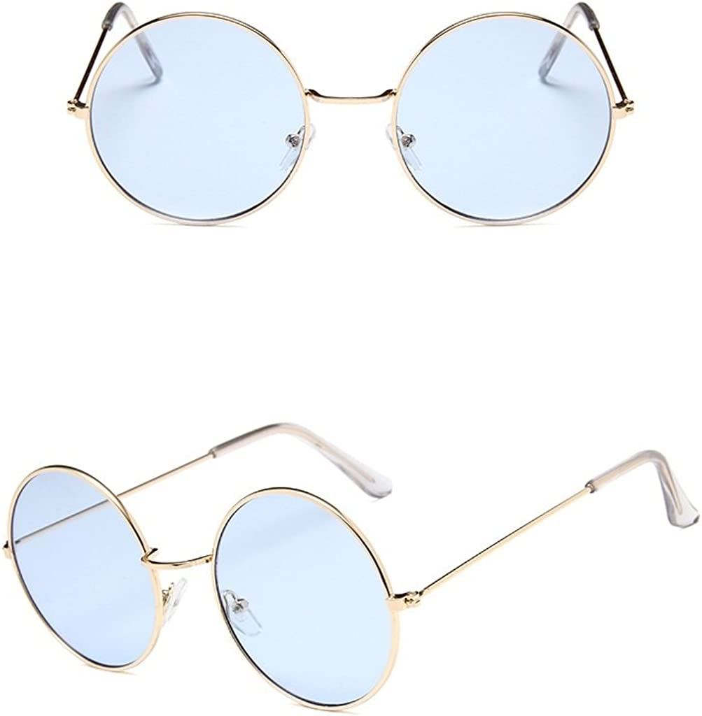 Nuni Gold Wire Frame Tinted Lens Retro Round Sunglasses Small Size