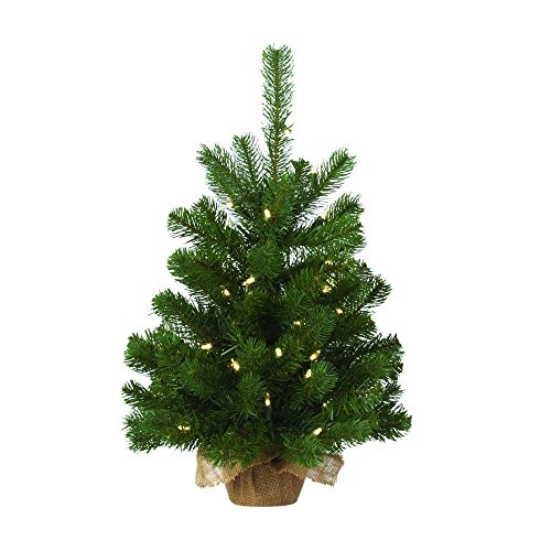 Artificial Christmas Trees Martha Stewart - 24 in. Pre-Lit LED Downswept Douglas Fir Artificial Table Tree