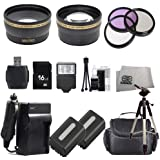16GB PRIME TIME HUGE ULTIMATE ACCESSORY KIT FOR THE Sony DSLR-A380, A330, A230 Digital SLR Cameras.THE KIT INCLUDES LENSES, FILTERS, 16GB SD MEMORY CARD, 2 BATTERIES , 2 CARRYING CASES, TRIPOD, FLASH PLUS MUCH MORE!! THESE LENSES AND FILTERS WILL ATTACH TO ANY OF THE FOLLOWING SONY LENSES 18-70mm, 18-55mm, 75-300mm, 55-200mm, 50mm, 100mm