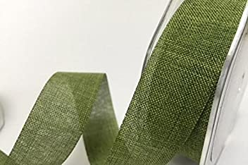 Red Cut Lengths Edge 38mm Linen Style Polka Dot Woven Ribbon