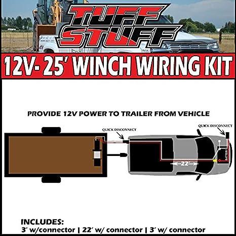 amazon com tuff stuff 2 gauge 25 ft perminent winch wiring kit w rh amazon com Ramsey 9000 Winch Remote Wiring Mile Marker Winch Wiring