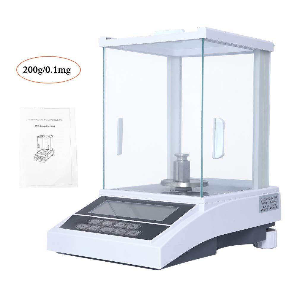 HUKOER Balanza analítica de precisión, 200g x 0.1mg 0.0001g Laboratorio de gran alcance Balanza electrónica analítica de precisión digital Escala de laboratorio Escalas de joyería: Amazon.es: Industria, empresas y ciencia
